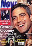 Now Magazine Cover - face of George Clooney, actor